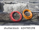 a road construction site and... | Shutterstock . vector #624785198