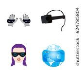 set of different virtual... | Shutterstock .eps vector #624785804