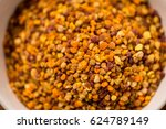 bee pollen detail on a spoon... | Shutterstock . vector #624789149