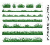 grass field silhouette borders... | Shutterstock .eps vector #624789569