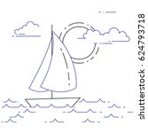 traveling horizontal banner... | Shutterstock .eps vector #624793718