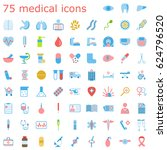 set of medical icons.... | Shutterstock . vector #624796520