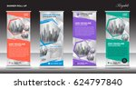 roll up banner template vector... | Shutterstock .eps vector #624797840