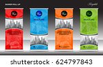roll up banner template  stand... | Shutterstock .eps vector #624797843