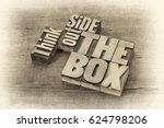 think outside the box   word... | Shutterstock . vector #624798206