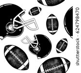 vector black and white american ... | Shutterstock .eps vector #624798470