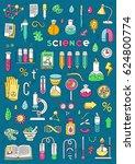 vector doodle set   science ... | Shutterstock .eps vector #624800774