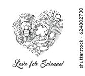 science icon set hand drawing...   Shutterstock .eps vector #624802730