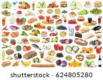 food and drink collection... | Shutterstock . vector #624805280