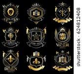 heraldic coat of arms created...   Shutterstock . vector #624812408