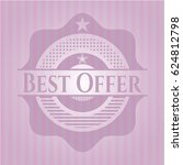 best offer badge with pink... | Shutterstock .eps vector #624812798