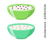 cereal chocolate balls and... | Shutterstock . vector #624814226