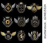 vintage decorative heraldic... | Shutterstock . vector #624815324