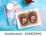 children's breakfast with... | Shutterstock . vector #624820940