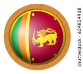 icon design for flag of sri... | Shutterstock .eps vector #624824918