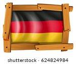 german flag in wooden frame | Shutterstock .eps vector #624824984