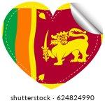 icon design for flag of sri... | Shutterstock .eps vector #624824990