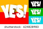 origami yes word isolated on... | Shutterstock .eps vector #624828983