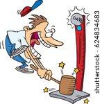 cartoon man playing carnival... | Shutterstock .eps vector #624834683