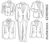 men's jacket. ceremonial men's... | Shutterstock .eps vector #624834863