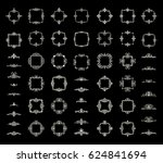 circle and square wicker... | Shutterstock .eps vector #624841694