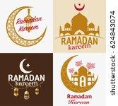 ramadan karem  arabic... | Shutterstock .eps vector #624843074