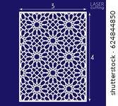 laser cut vector panel. die... | Shutterstock .eps vector #624844850