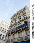 upwards perspective of parisian ... | Shutterstock . vector #624844976
