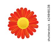 red flower icon. colorful solid ... | Shutterstock .eps vector #624848138