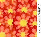 seamless flower background. | Shutterstock .eps vector #624848318