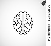 brain icon  vector eps 10... | Shutterstock .eps vector #624852608