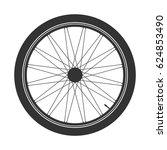 bicycle wheel black symbol... | Shutterstock .eps vector #624853490