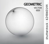 sphere mesh vector structure.... | Shutterstock .eps vector #624860144