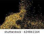 gold glitter texture isolated... | Shutterstock .eps vector #624861164