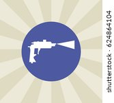 pistol paint icon. sign design. ... | Shutterstock .eps vector #624864104