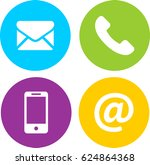 phone  mail  mobile  e mail... | Shutterstock .eps vector #624864368