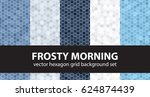 "hexagon pattern set ""frosty... 