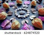 bohemian mandala made of...   Shutterstock . vector #624874520