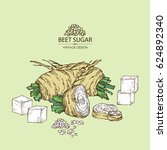 background with beet sugar ... | Shutterstock .eps vector #624892340