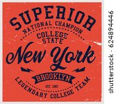 vintage varsity graphics and... | Shutterstock .eps vector #624894446