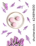 macaroons and flowers for light ... | Shutterstock . vector #624894830