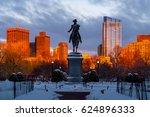 Sunset At Public Garden Boston...