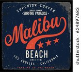 vintage surfing graphics and... | Shutterstock .eps vector #624897683
