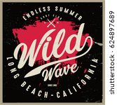 vintage surfing graphics and... | Shutterstock .eps vector #624897689