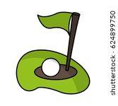 flag golf hole icon | Shutterstock .eps vector #624899750
