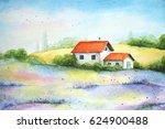 watercolor vivid painting of... | Shutterstock . vector #624900488
