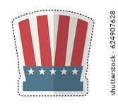 usa hat isolated icon | Shutterstock .eps vector #624907628