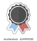 american frame with ribbon and... | Shutterstock .eps vector #624909200