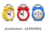 three colorful  red  blue ... | Shutterstock . vector #624909893