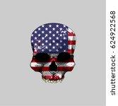 usa grunge flag on a head skull | Shutterstock .eps vector #624922568